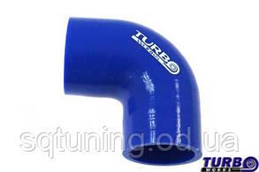 Силиконовый патрубок TurboWorks - Угол 90° переходной - 63-70 мм