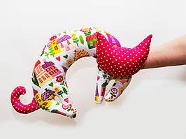 Подушка подголовник стилизованный кот