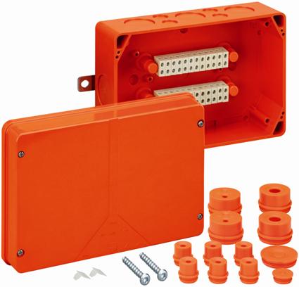 Огнестойкая распределительная коробка Spelsberg WKE 5 - 20x6², Р30/Р60/Р90; входы: 8хМ40, 8хМ20; sp86050520