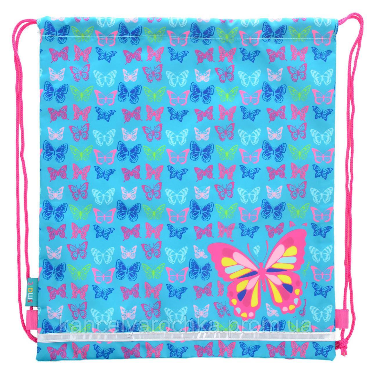 Сумка для обуви SB-01 Butterfly blue 1 вересня