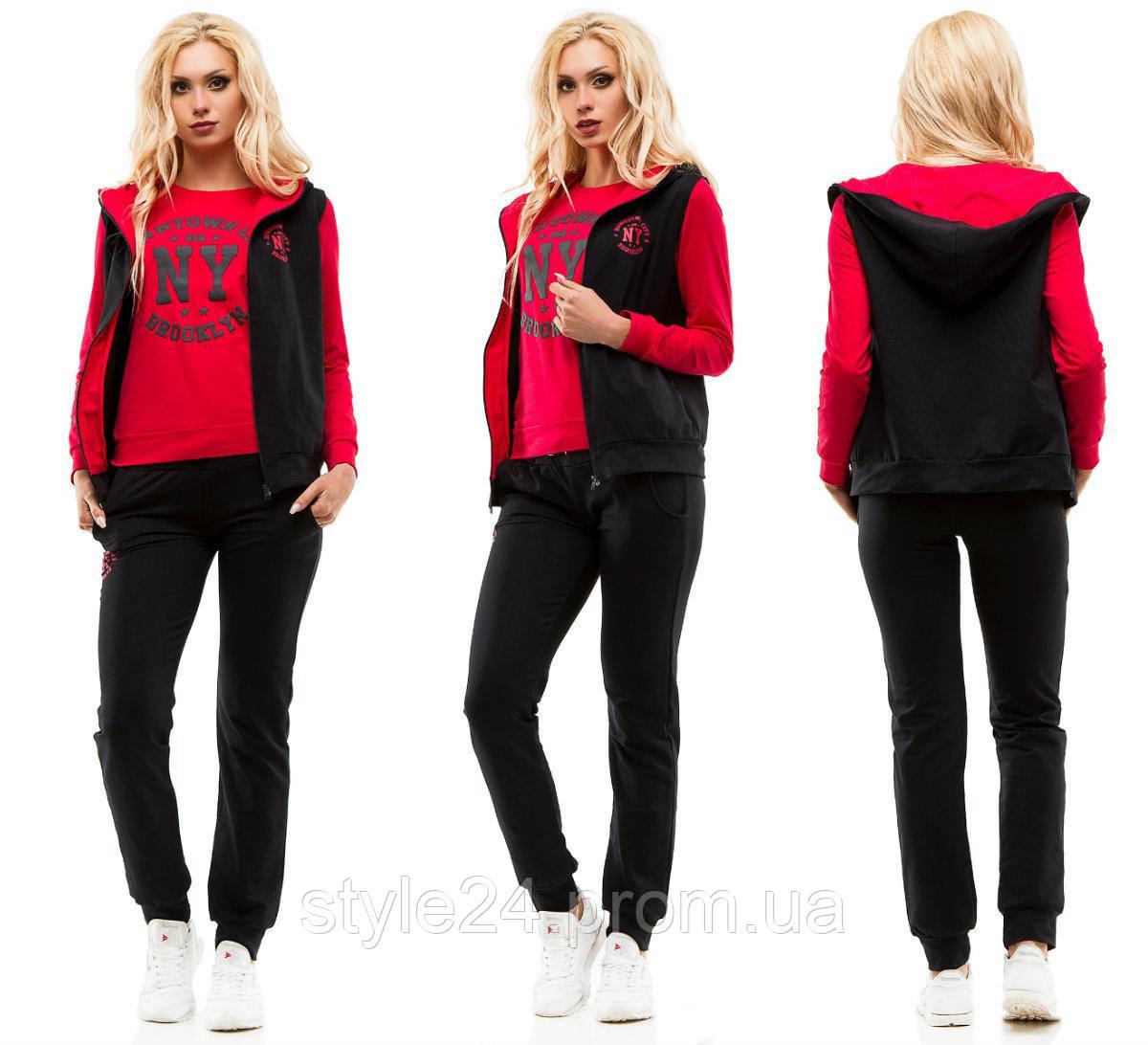 Жіночий спортивний костюм-тройка з жилеткою.Р-ри 44-50  продажа ... 7848f19351603