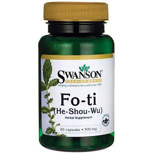 Fo-Ti Горец (Фаллопия) He Shou Wu корень 60 капс по 500 мг
