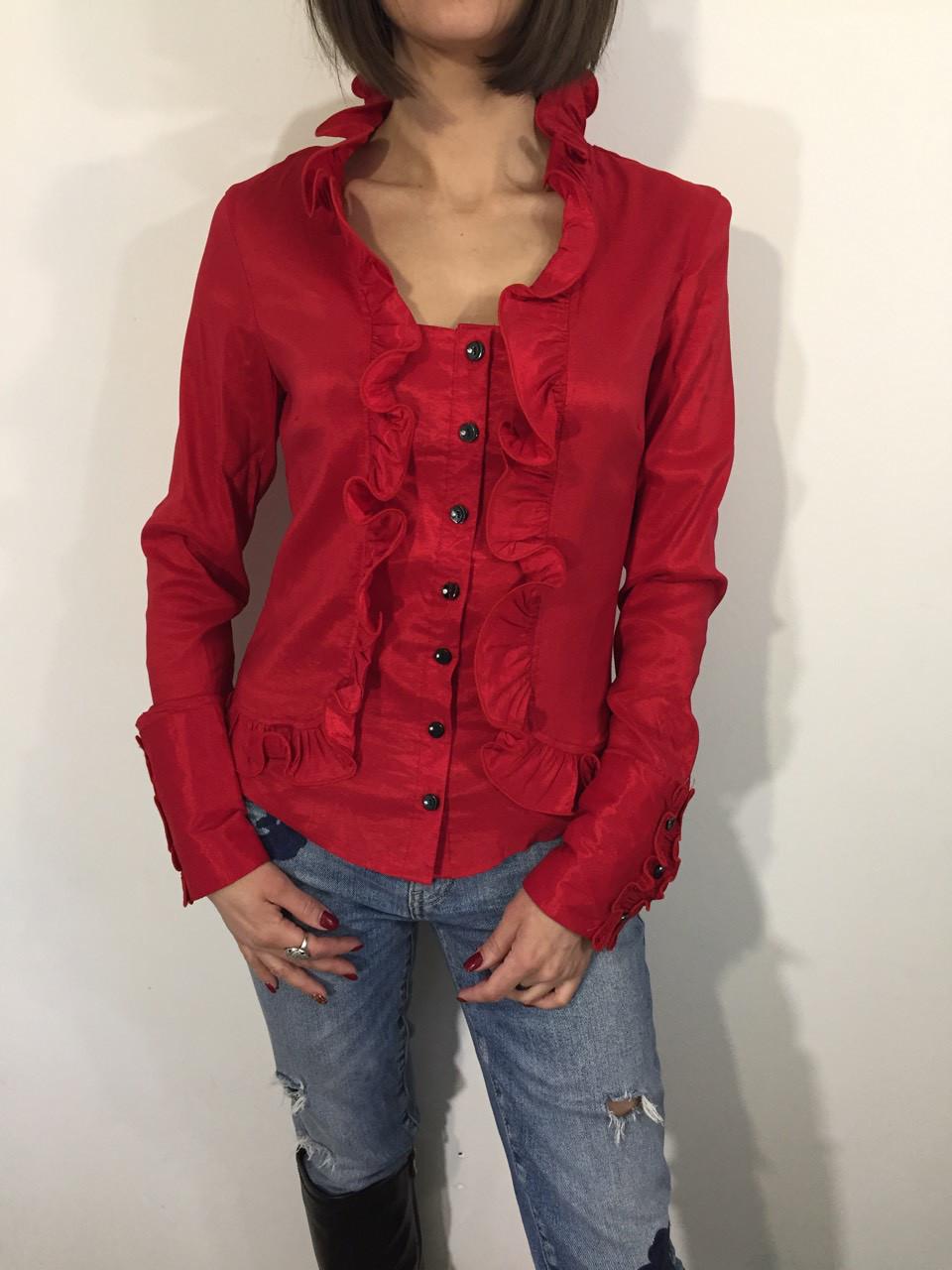 Рубашка женская А-93 красная S-XL