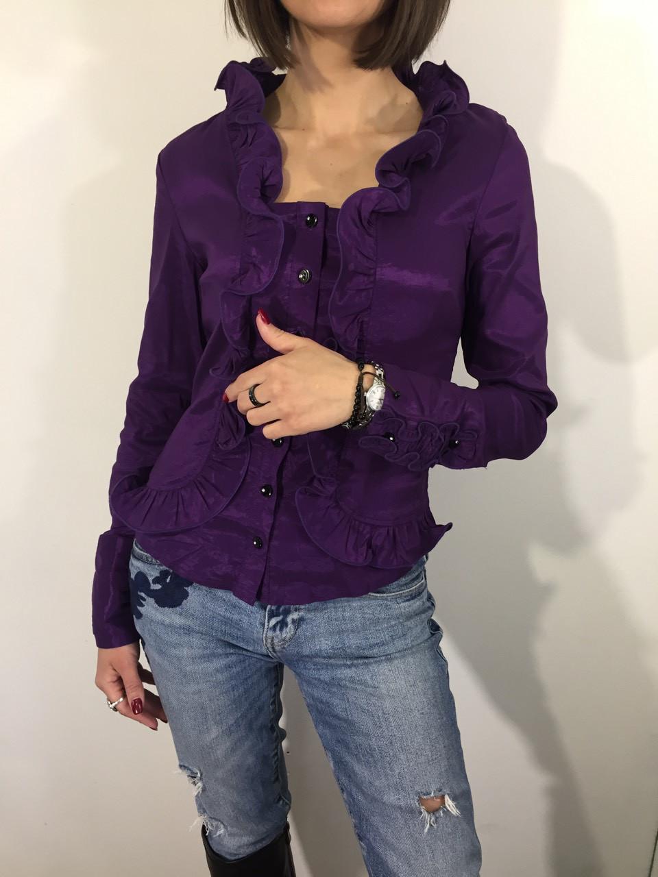 Рубашка женская А-93 фиолетовая М.XXL