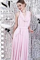 Платье длинное с расклешенной юбкой
