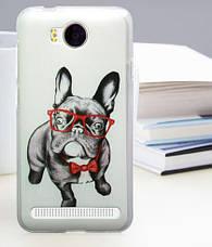Бампер силиконовый для Huawei Y3ii с картинкой оскал тигра, фото 2