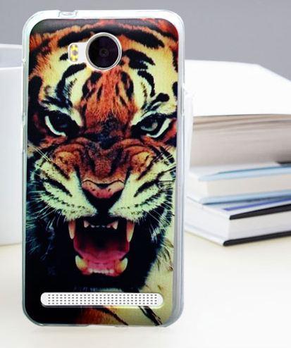 Бампер силиконовый для Huawei Y3ii с картинкой оскал тигра