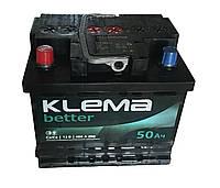 Аккумулятор автомобильный 6СТ-50 Ев KLEMA BETTER