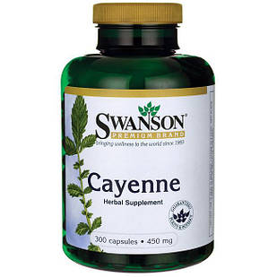 Swanson Cayenne Кайенский перец (40,000 ед) 450 мг 300 капс
