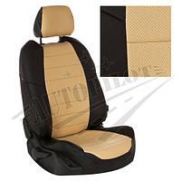 Чехлы на сиденья Opel Meriva II c 10г. (Экокожа Черный   Бежевый)