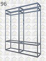 Конструктор (каркас) витрины № 96 из алюминиевого профиля (2578)1449,2576,2721