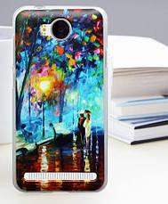 Панель накладка силиконовая для Huawei Y3ii с печатным рисунком розовые розы, фото 2