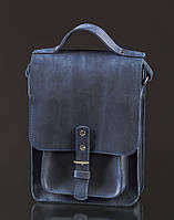 Кожаная сумка-почтальон Bern | Винтажный Синий