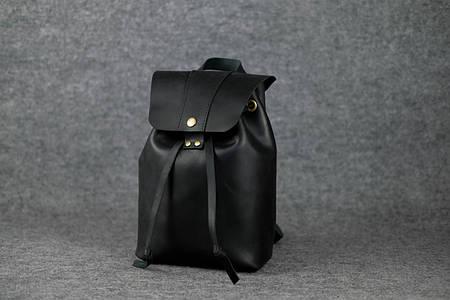Женский рюкзак на затяжках с кнопкой |11960| Черный