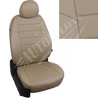 Чехлы на сиденья Mazda CX-5 II Active, Supreme с 17г. (Экокожа Темно-бежевый   Темно-бежевый)