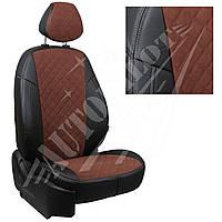 Чехлы на сиденья Mazda CX-5 (40/60) Direct, Drive с 11г. (Алькантара ромб Черный   Шоколад)