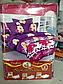 Полуторный комплект постельного белья 145х215 из ранфорса Барби violet (1.0) (50х70), фото 2