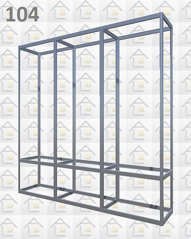 Конструктор (каркас) витрины № 104 из алюминиевого профиля (2578)1449,2576,2721, фото 2