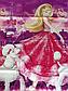 Полуторный комплект постельного белья 145х215 из ранфорса Барби violet (1.0) (50х70), фото 4
