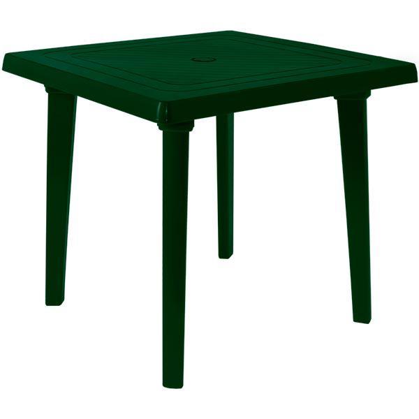 Стол пластиковый квадратный тёмно- зелёный