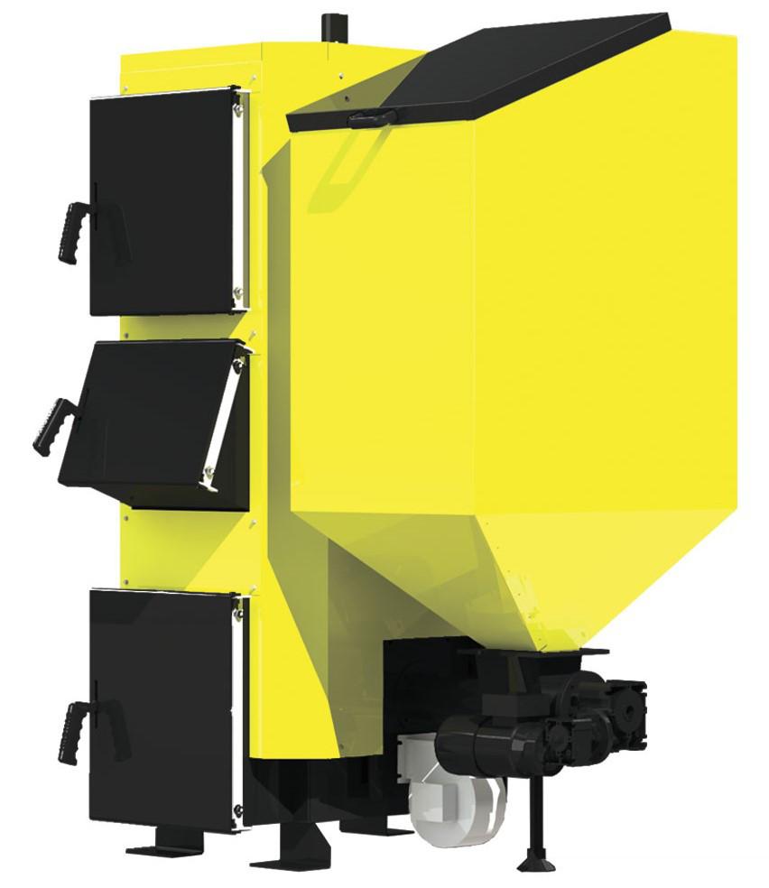 Пеллетный стальной котел на твердом топливе Kronas (Кронас) Combi 27