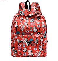 Новинка !!! Рюкзак школьный городской Кошки Красный Кошечки Коты Портфель Сумка