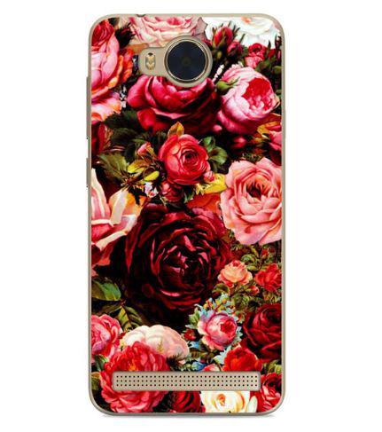 Чехол силиконовый для Huawei Y3ii с картинкой розы