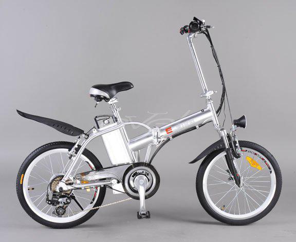 Электровелосипед на базе складного, компактного велосипеда