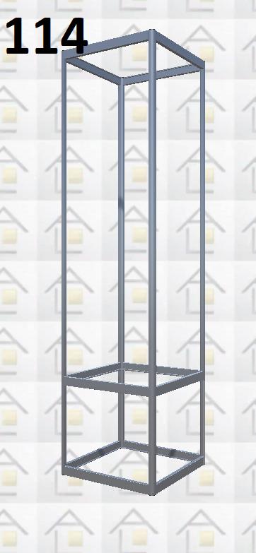 Конструктор (каркас) витрины № 114 из алюминиевого профиля (2578)1449,2576,2721