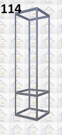 Конструктор (каркас) витрины № 114 из алюминиевого профиля (2578)1449,2576,2721, фото 2