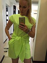 """Летний женский комбинезон-шорты """"DEFO"""" с карманами и коротким рукавом (3 цвета), фото 2"""