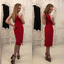"""Летнее офисное миди-платье на запах """"PARMA"""" без рукавов (4 цвета), фото 2"""