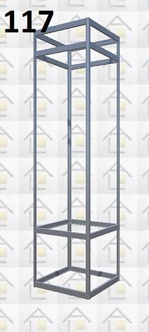 Конструктор (каркас) витрины № 117 из алюминиевого профиля (2578)1449,2576,2721, фото 2