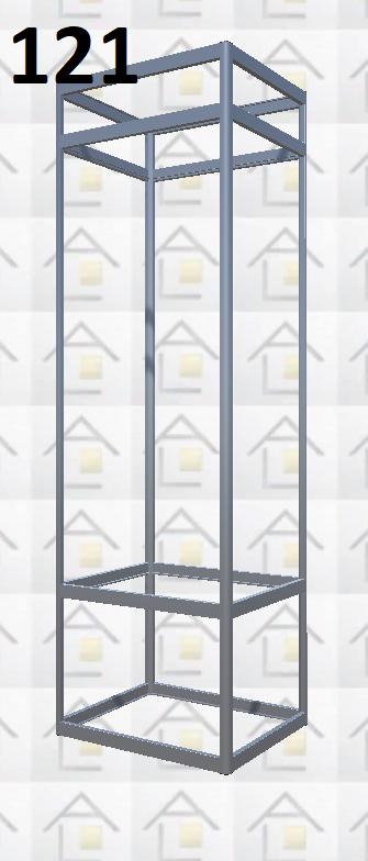 Конструктор (каркас) витрины № 121 из алюминиевого профиля (2578)1449,2576,2721