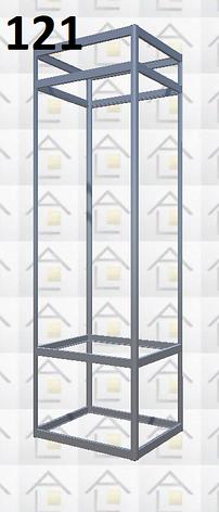 Конструктор (каркас) витрины № 121 из алюминиевого профиля (2578)1449,2576,2721, фото 2