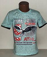 """Детская футболка  на мальчика   """" NYС Орел """"  8,9,10,11,12 лет."""