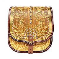 Женская кожаная сумка ручной работы с металом, фото 1