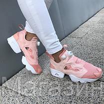 Женские кроссовки Reebok InstaPump Fury Rose Рибок Инста Памп розовые, фото 2