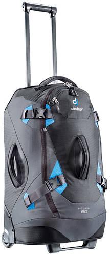 Дорожная сумка-рюкзак HELION 60 на колесах 60 л. DEUTER, 35842 7302 черный с синим