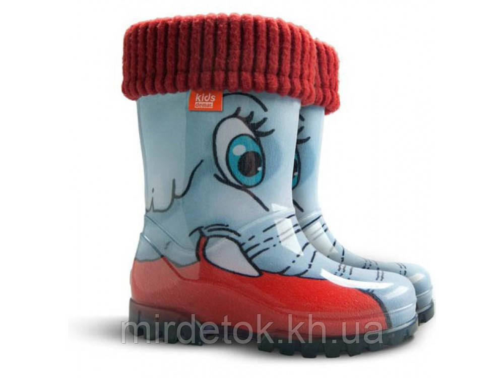 Резиновые сапоги DEMAR TWISTER LUX PRINT hd (Слоны)