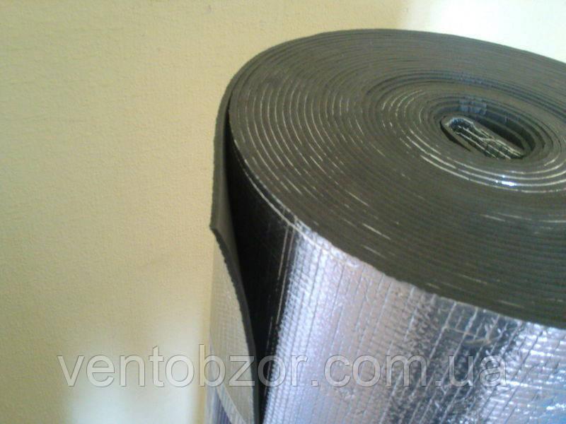 Изолон 5 мм фольгированный самоклеющийся ; пенонополиэтилен 5 мм фольга+клей