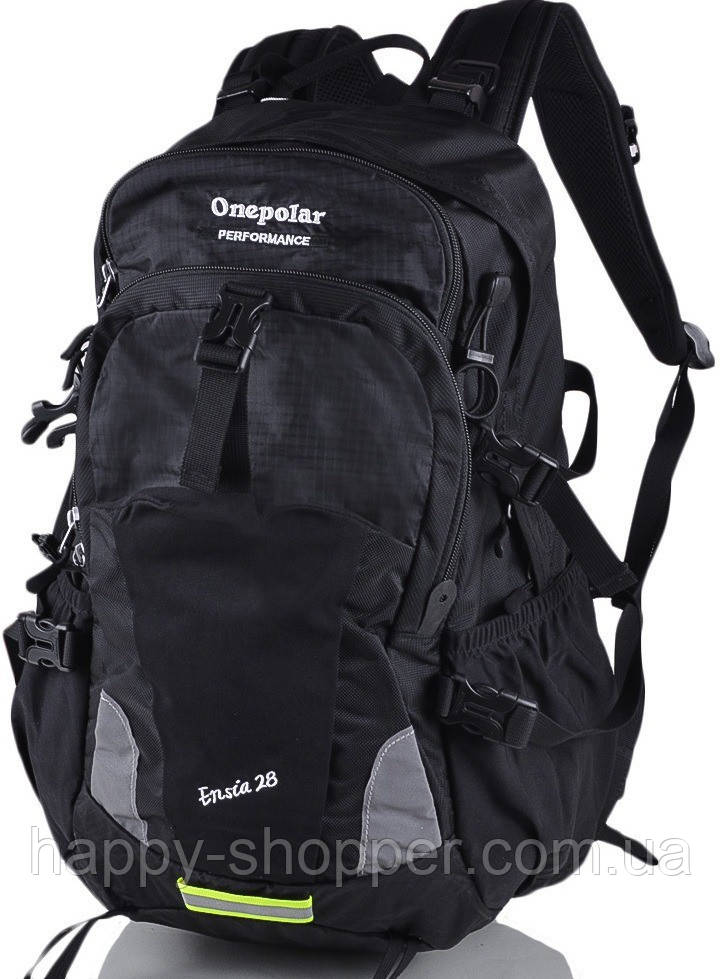 Рюкзак 28 л Onepolar Ensia 1729 Полиэстер, 28.0, Вентиляция спины, Унисекс, One Polar, Городской, Черный