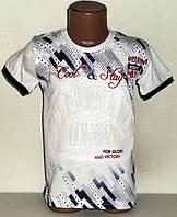 """Детская футболка  на мальчика """" Denim """" (выпуклый рисунок) 8,9,10,11,12 лет"""