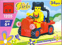 Koнcтpуктop Brick Girls Series Машинка 1205