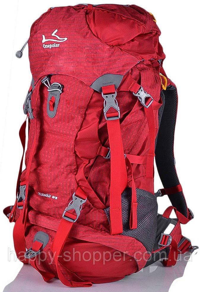 Туристический рюкзак 60-70 л Onepolar Pistachio 1632 Красный