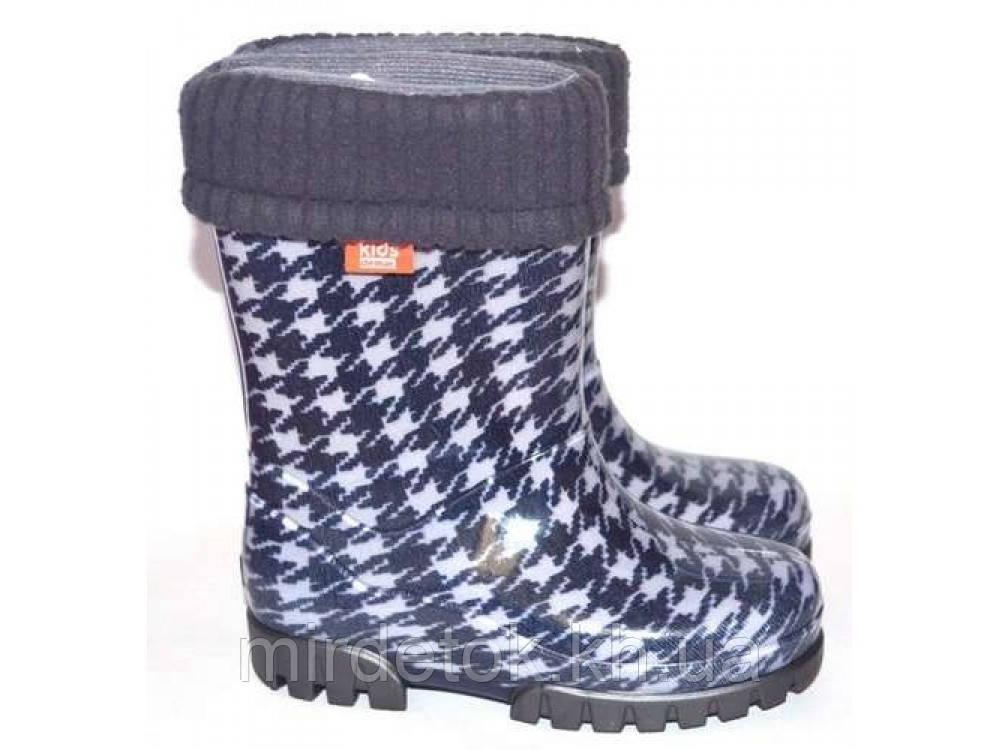 Гумові чоботи DEMAR TWISTER LUX PRINT hg (Пепіта сіра)