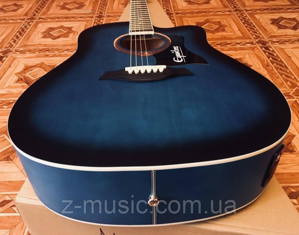 Электроакустическая гитара матовая EQUITES (Кападастр+Медиатор+Ключ)