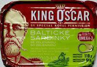 Сардины King Oscar 110 грамм  Balticke Sardinky с зеленью 110 г