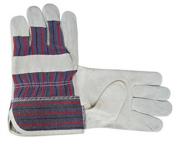 Перчатки рабочие замш, фото 2