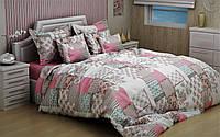 Полуторный комплект постельного белья 150х220   из бязи Голд Пэчворк
